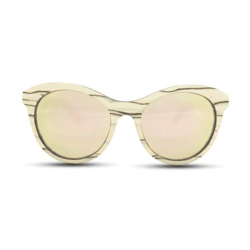 Lady owl - White ice wood   Mr. Woodini Eyewear - Wooden Sunglasses