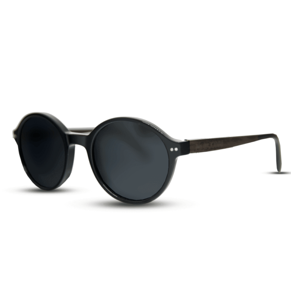 Mr. Woodini Black panther - Acetate with Wood Sunglasses