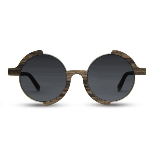 משקפי שמש עגולים מעץ - Madness