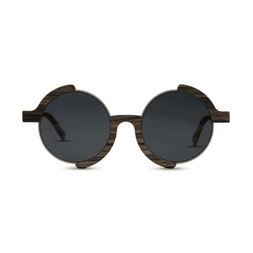 Madness - Swiss walnut - front | Mr. Woodini Eyewear