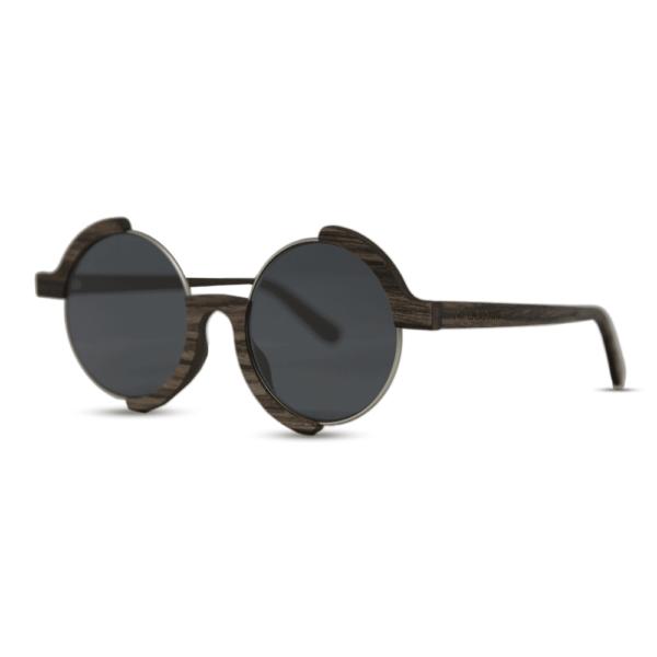 Madness - Swiss walnut - Side | Mr. Woodini Eyewear