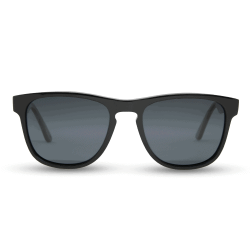 Schwarz - Black acetate temple + Ebony inlay sunglasses - Mr. woodini