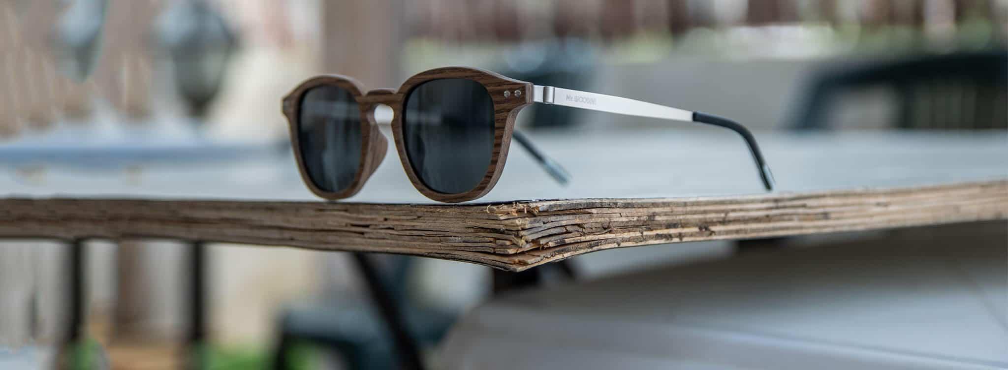 Mr. Woodini Eyewear - Wooden Sunglasses