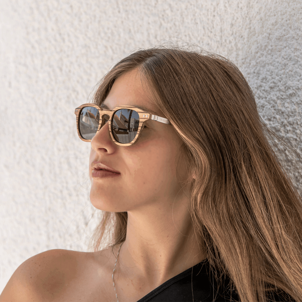 Flip - wooden and metal sunglasses - Mr. Woodini Eyewear