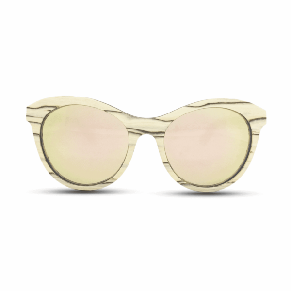 Lady owl - White ice wood | Mr. Woodini Eyewear - Wooden Sunglasses