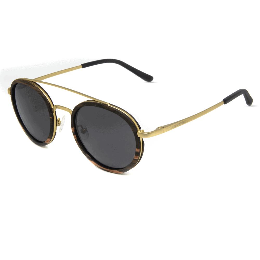 דגם Arbol - משקפי שמש ממתכת ועץ הובנה - Mr. Woodini