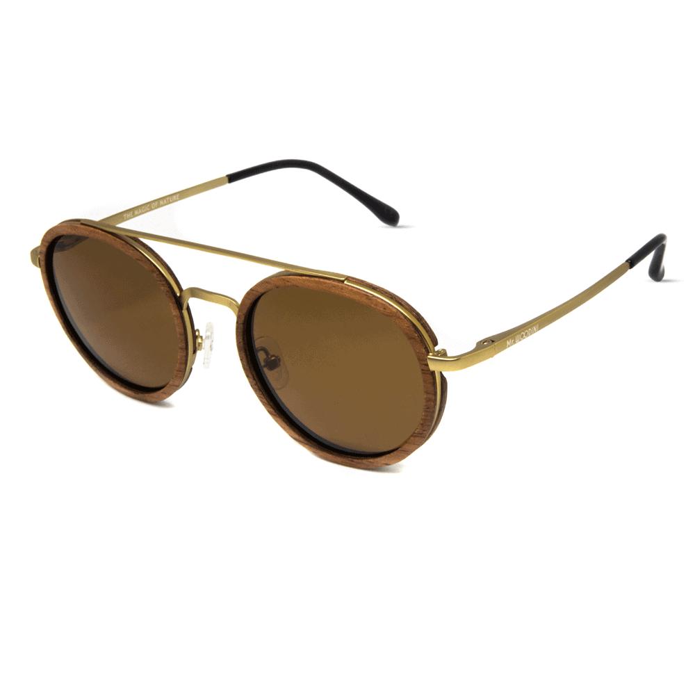 דגם Arbol - משקפי שמש ממתכת ועץ אדמדם - Mr. Woodini