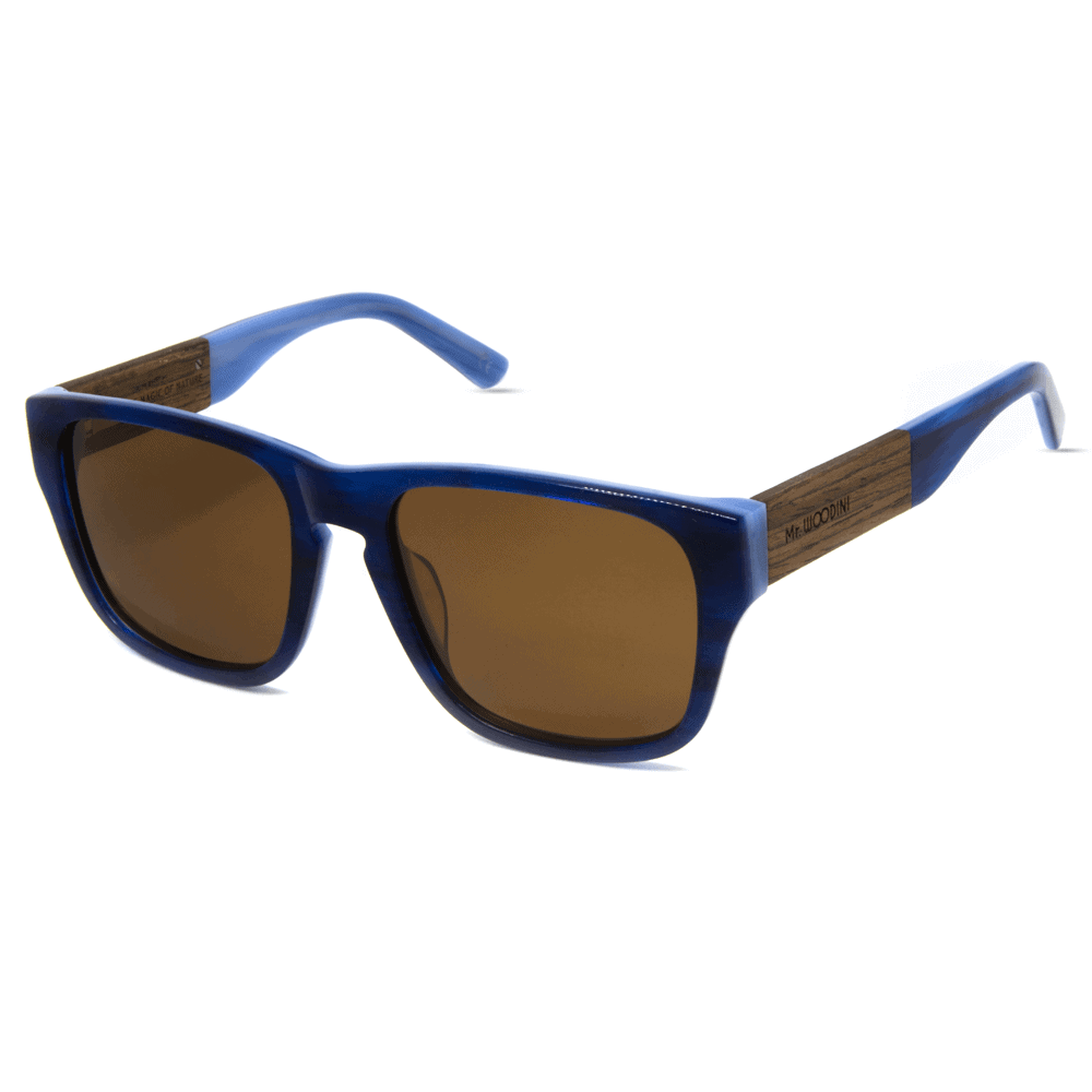 Caribbean Mr. Woodini - Acetate with Wood Sunglasses