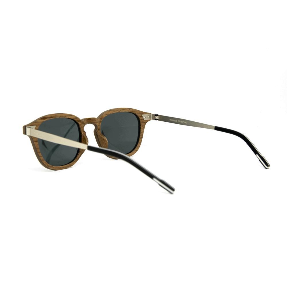 Flip Black Walnut - Wooden and metal sunglasses - Mr. Woodini