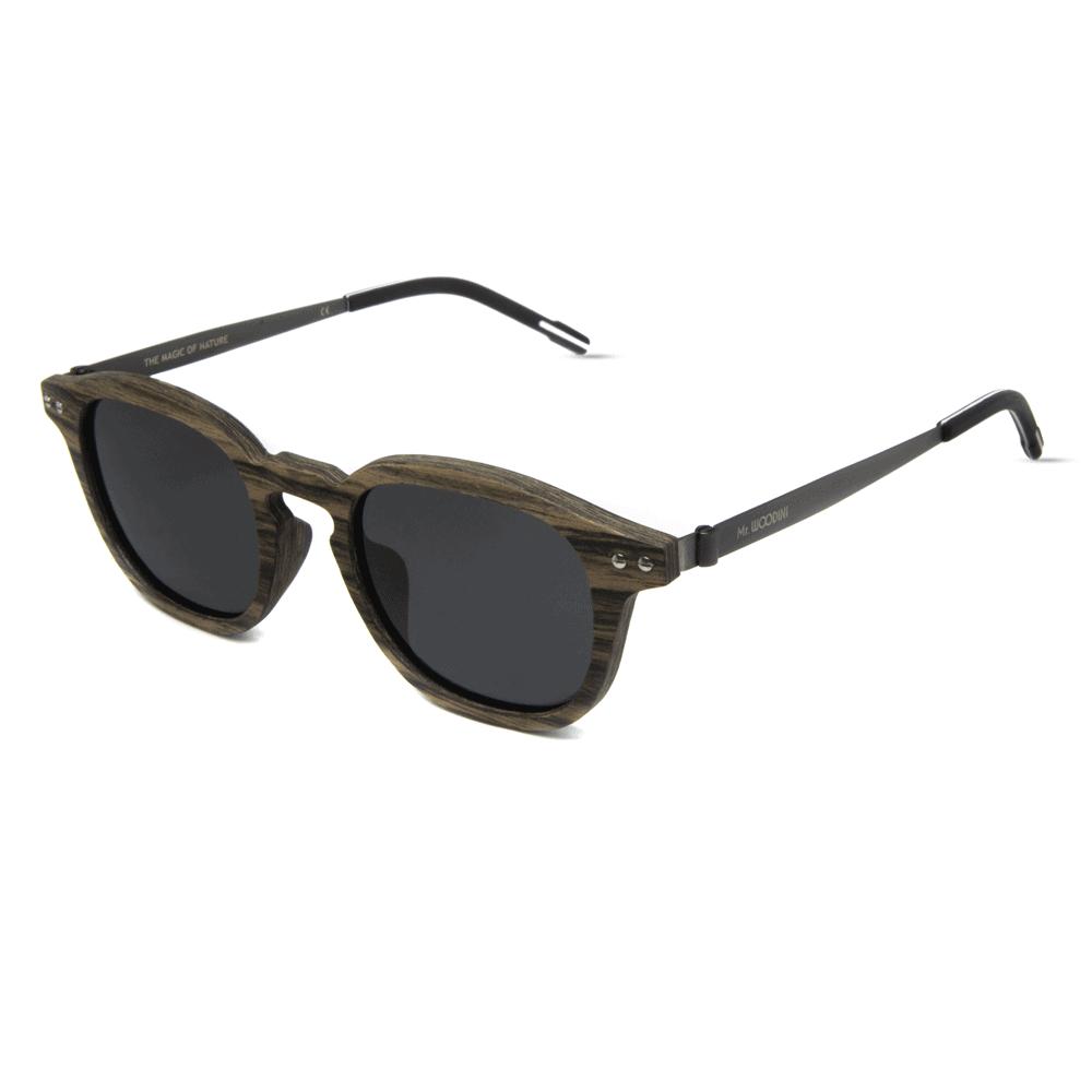 דגם Flip - משקפי שמש מעץ ומתכת - Mr. Woodini