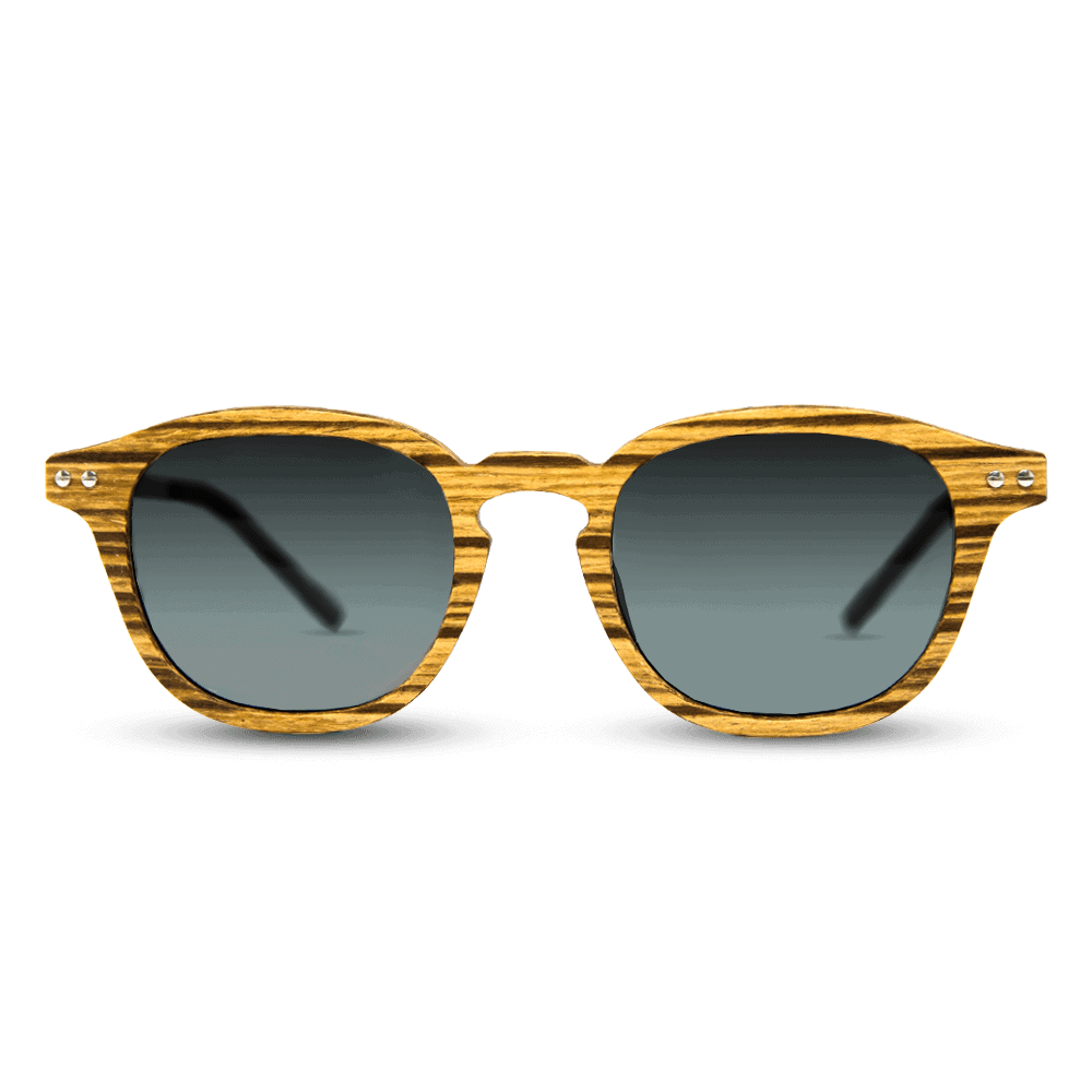 Flip Zebra wood - Wooden Sunglasses - Mr. Woodini