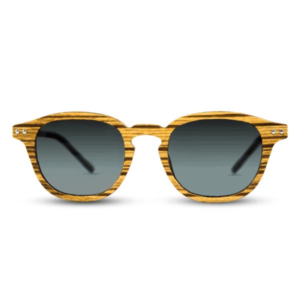Flip Zebra wood - Wooden Sunglasses - Mr. Woodini