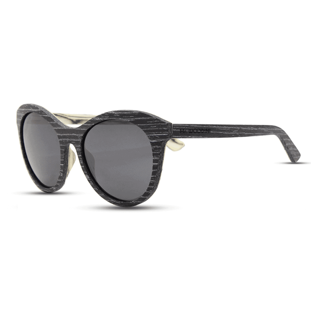 Lady owl - Black Apricot wood | Mr. Woodini Eyewear - Wooden Sunglasses
