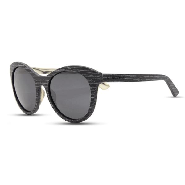 Lady owl - Black Apricot wood | Mr. Woodini Eyewear - Wooden Sunglasses