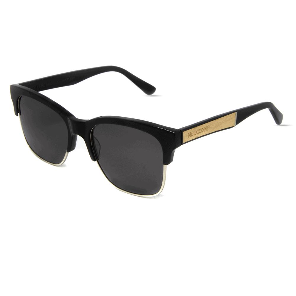 Mr. Woodini - Air-force - Acetate & Maple Wood Sunglasses