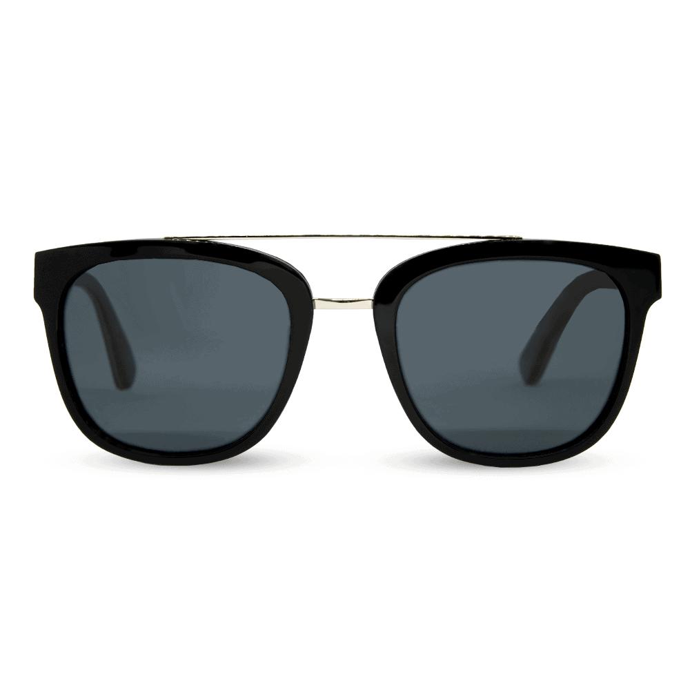 piranha Black - accetet and wood sunglasses