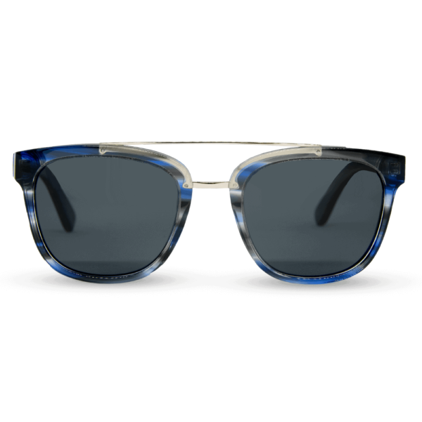 piranha blue - accetet and wood sunglasses