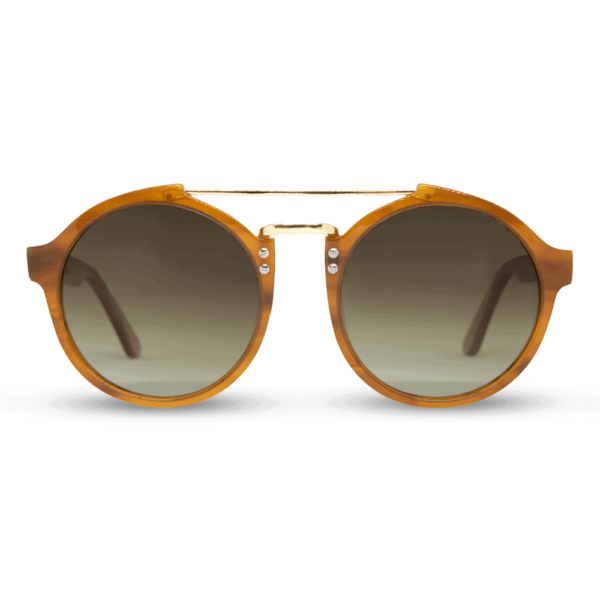 roxbury Orange - accetet and wood sunglasses