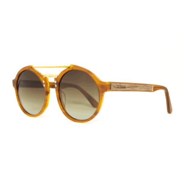 roxbury Orange - accetet and wood sunglasses