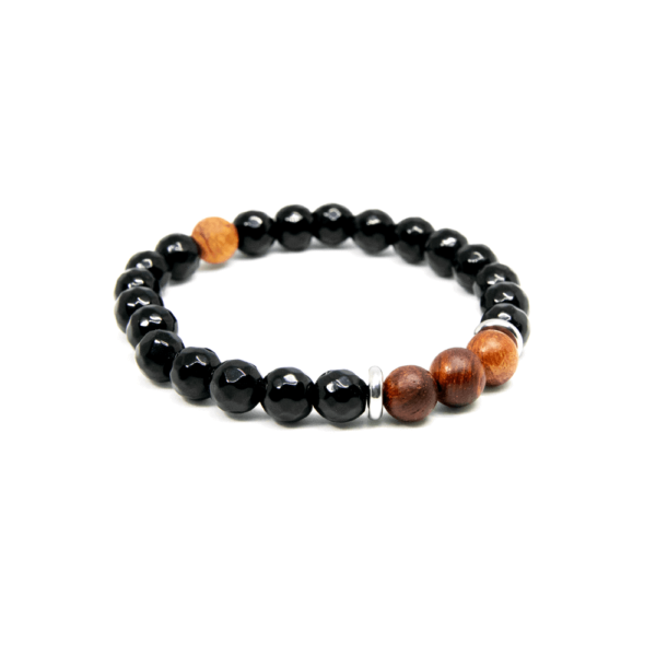 Black Onyx Rosewood - Men Bracelet | Mr. Woodini