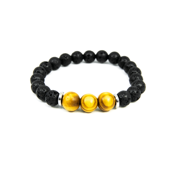Lava Wood Bracelet - Black Volcanic Lava stone - Mr. Woodini