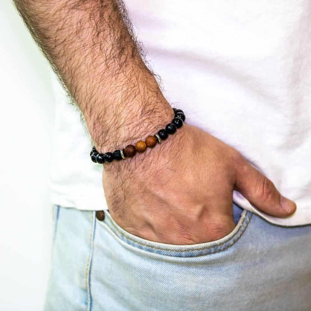 black onyx rosewood bracelet