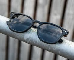 wood and acetate sunglasses