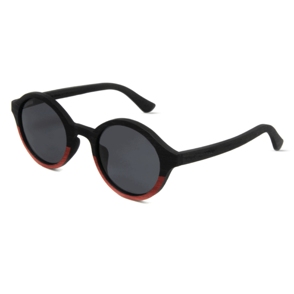Arishima Red and Black wooden sunglasses