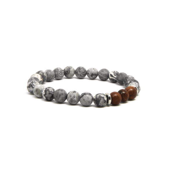 Ghost 8mm is an eco-friendly handmade Bracelet for men