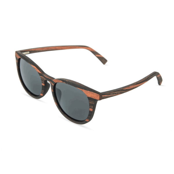 Wooden Sunglasses - Ebony Wood with grey polorized lens - Mr. Woodini
