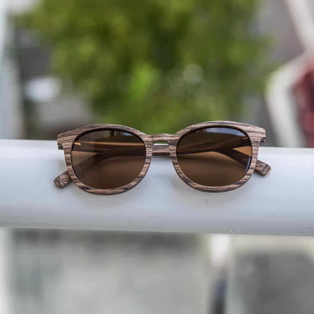 Wooden Sunglasses - Swiss Walnut Wood with brown polorized lens - Mr. Woodini