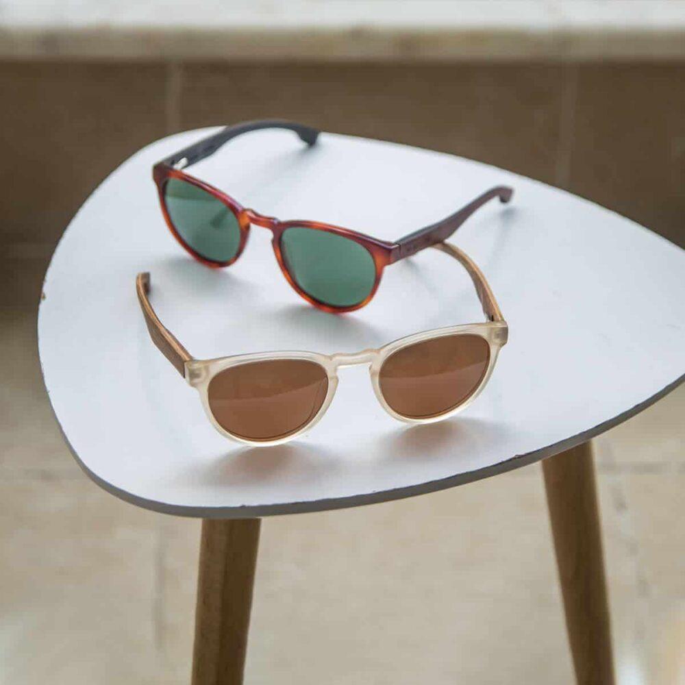 Brexit - Acetate & Wood Temples Sunglasses