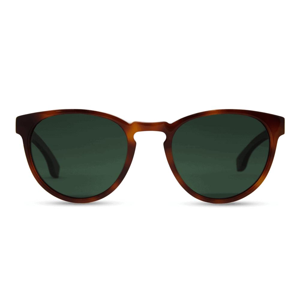 Brexit - Classic Smog Tortoise Acetate & Wood Temples Sunglasses