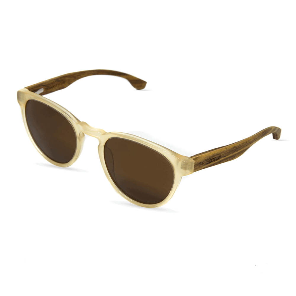Brexit - Acetate Ivory & Wood Temples Sunglasses