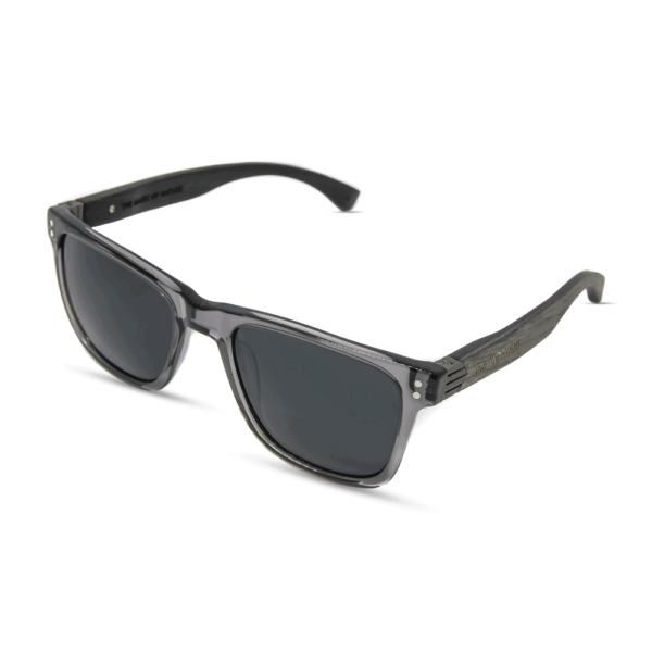 Galerina - Sunglasses Acetate Transparent Gray & Gray Oak+Ebony wood Temples