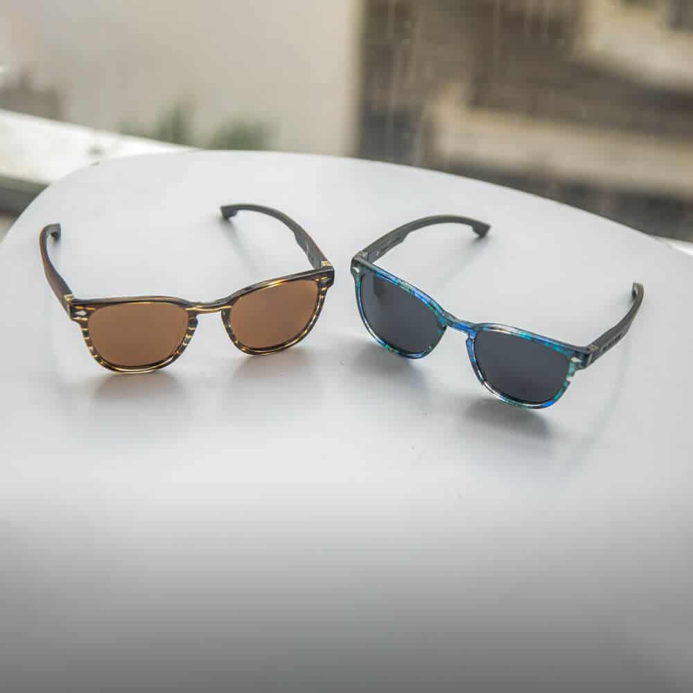 Oyster - Acetate sunglasses with wood temples