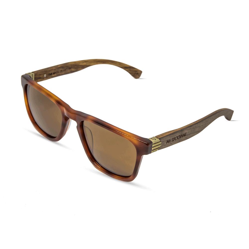 Vulcan Sunglasses - Classic Smog Tortoise + Wood temples