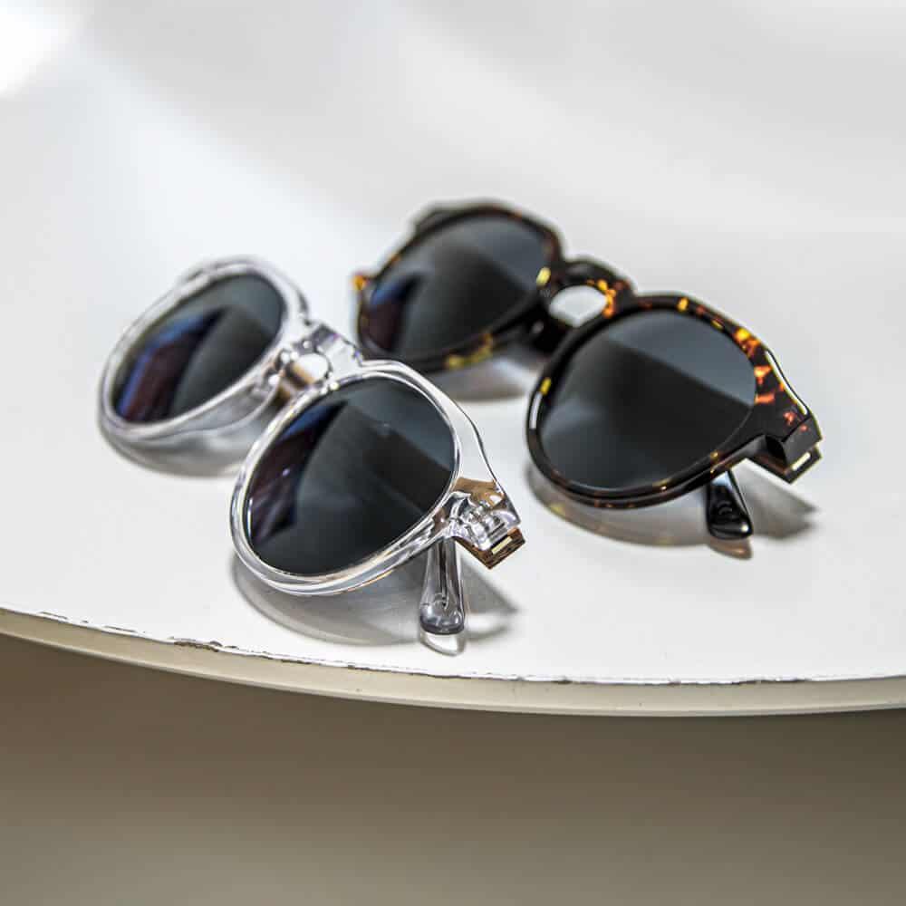 Sumatra - Acetate Sunglasses with wood temples - Mr. Woodini